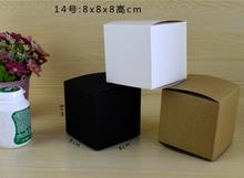 20pcs 11 sizes Black Carton Kraft Paper square paper Box,small white cardboard paper packaging box,Craft Gift Soap Packaging box