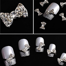 LNRRABC Fashion Nail ornaments nail butterfly knot diamond drill nail stickers Phone flashing stickers DIY nail art jewelry(China)