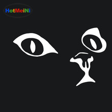 HotMeiNi Animal Pet Cat Eye Face Car Stiker for RV Minicab SUV Motorcycle Door Laptop Car Decor Reflective Vinyl Decal 10 Color(China)