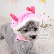 Pet Dog Costume Cap Cartoon Rabbit Puppy Chick Shapeshift Hat Grooming Accessories Winter Hats Clothes For Small Dogs Cat(China)