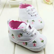 Baby Shoes Embroidered Lace Baby Infant Shoes Kids Girls Toddler Soft Bottom Shoes