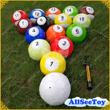 3# 7 Inch Snook Soccer ball in Stock,16 pieces Billiard ball,Snooker Football for Snookball game
