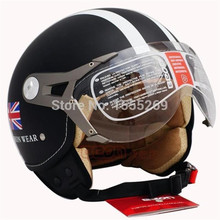 Free shipping!Fashion Halley Beon half helmet,electric bicycle Open face capacete,British Flag,Motorcycle helmet,ECE Approved
