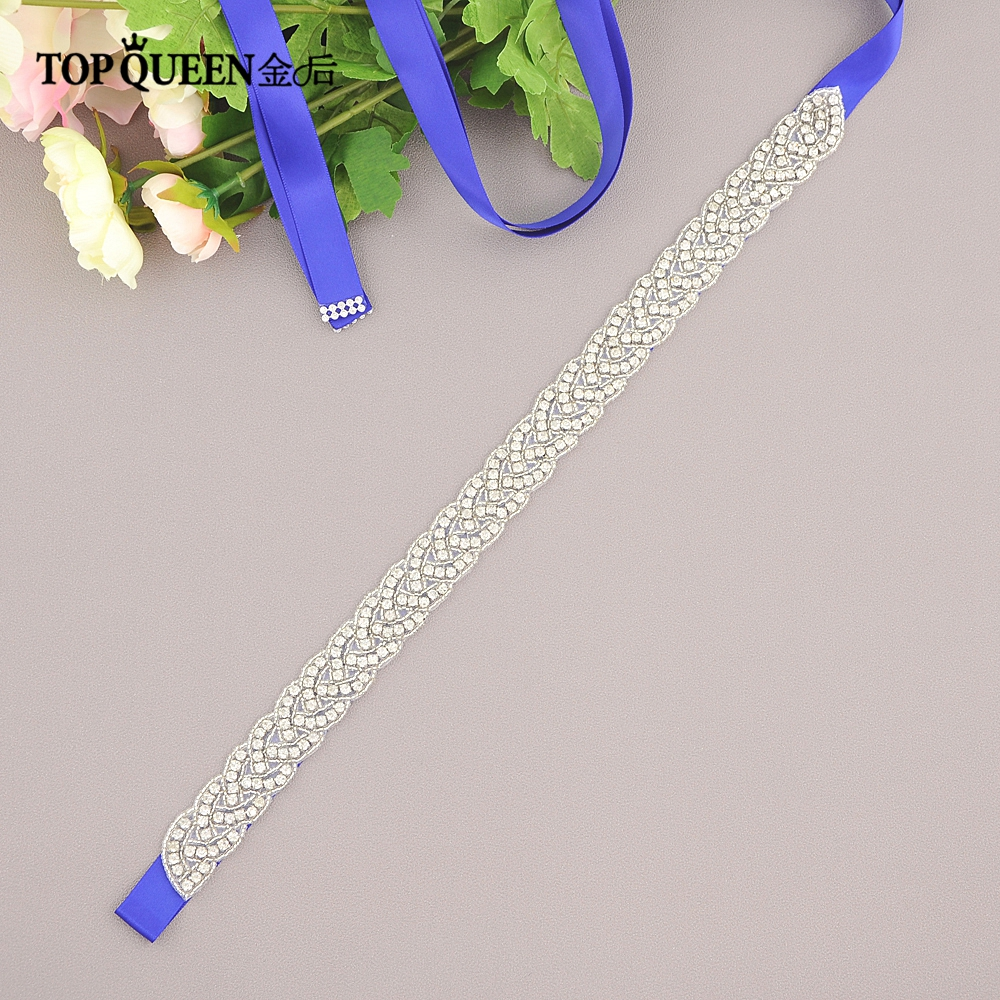 TOPQUEEN S216 Rhinestones Evening Party Gown Dresses Accessories Wedding Belt Sashes,Bride Waistband Bridal Sashes Belts