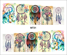 1 Sheet Nail MT31 Full Cover Color Dream Catcher POP Nail Art Water Transfer Sticker Decal For Nail Art Tattoo DIY Nail Tool(China)