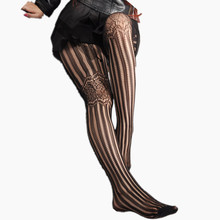 Buy 2016 Fashion Summer Women Girls Nightclubs Sexy Black Tinted Sheer High Stocking Pantyhose Tattoo Tight Fish Net Woman Tights