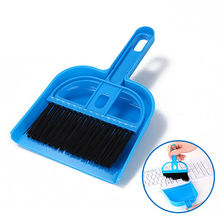 Fashion Small Brooms Whisk Dust Pan Table Keyboard Notebook Dustpan Brush Set Practical(China)