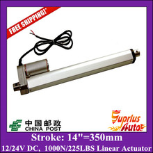China Post 12volt 14inch/ 350mm stroke, 225lbs/ 100kgs/ 1000N load linear actuator from Firgelli Supplier.