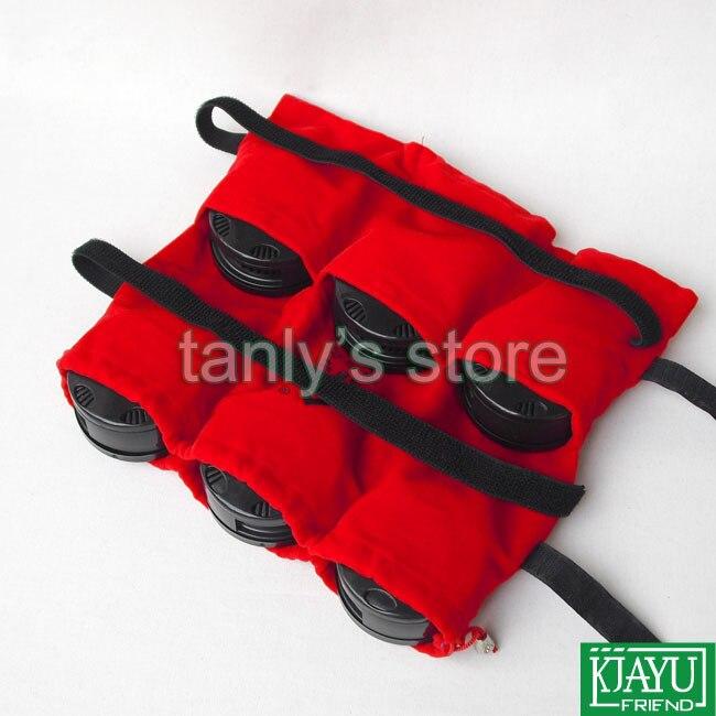 Wholesale &amp; Retail Traditional moxibustion tool (6pcs Moxa box + cloth bag)/set health product Good quality!<br>