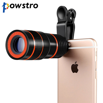 powstro 8x Zoom Optical Telescope Portable Mobile Phone Telephoto Camera Lens Clip