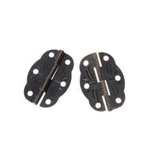 Wholesale 10 PCS/lot 30mm x22mm Tool Parts Door Butt Hinges Alloy rotated Antique Bronze(China)