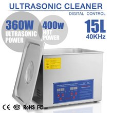 15L 15 L ULTRASONIC CLEANER 760 W DIGITAL BRUSHED CLEANING TANK FOR PERSONAL USE FIRST CLASS