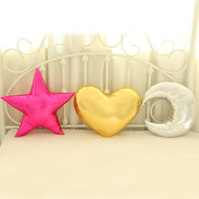 2017 Funny Creative Pillow Love Heart Five-point Star Moon Shape Cushion Home Sofa Wedding Photography Decor