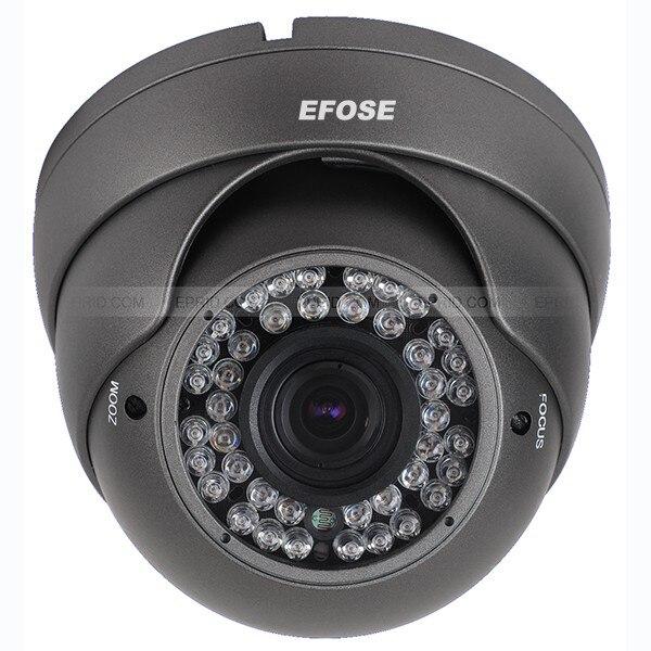 8PCS 1000TVL 1/3 HD CCD 2.8-12mm Lens 42 Leds Dome Vandal Proof IR ICR<br>