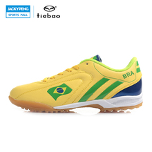 TIEBAO Professional Outdoor Soccer Shoes Men Women TF Turf Sole Football Boots National Flag Adults Athletic Training Shoes