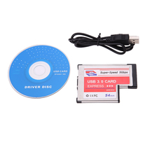 USB 3.0 PCI Express Card Adapter 5Gbps Dual 2 Ports HUB PCI 54mm Slot ExpressCard Converter For Laptop Notebook NEC Chip Adapter(China)