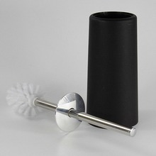 black House Scenery Bathroom Stainless Steel Toilet Brush With Holder Set Cleaning Brush With Base Plate Plastic Durable Type
