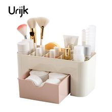Urijk Cosmetic Jewelry Organizer Office Storage Drawer Desk Makeup Case Plastic Makeup Brush Box Lipstick Remote Control Storage(China)