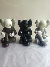 Best Selling 8 inch Orignalfake GISWIL kaws this is not a toy exhibition three color black brown and grey optional(China)
