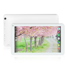 Yuntab white 10.1 inch D102 tablet Android 6.0 quad core 1 GB+8 GB with Dual camera, Google Play Pre-loaded,Supports 3D Games(China)