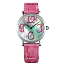 FLAMING GAGA Series Fashion 2 Models  Miyota Quartz Watches Women Super Wristwatches Dress Watch with Shell Dial Gifts