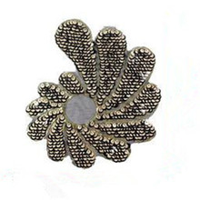 Sequins Embroidered Flower Patch 24cm Logo Iron On Patches For Clothing Deal With It Clothes Fabric Motif Applique(China)