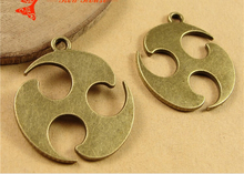 29*33MM Antique Bronze Jewelry accessories wholesale cyclone pendant manufacturers selling handmade materials, necklace charms(China)