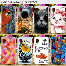 Cell Phone Skins Cases For Samsung Galaxy Ace S5830 5830 Cases Colorful Hot Painting Hard Plastic Cover Original Phone Case