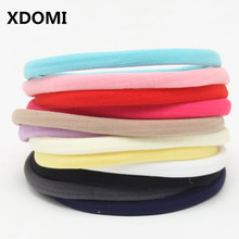 12pcs Mix Colors Baby Girls Boys Spandex Nylon Headband For Children Elastic Infant Headwear Soft Skinny Stretchy Haed Band(China)