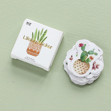 45 pcs/lot Cactus mini paper sticker decoration DIY ablum diary scrapbooking label sticker kawaii stationery