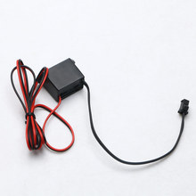 Power Driver for Light Strip Mini Inverter DC12V 1-5M 185mm EL Wire Cable Neon Glow Inverter Festival Decoration(China)