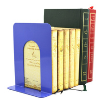 2 Pc Metal Bookends Foldable Portable Shelf Holder Document Holder Home Stationery Library School Office Supply Stationery(China)