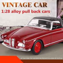 1:28 alloy pull back cars,high simulation retro classic cars model ,metal casting,toy vehicles,musical & flashing,free shipping