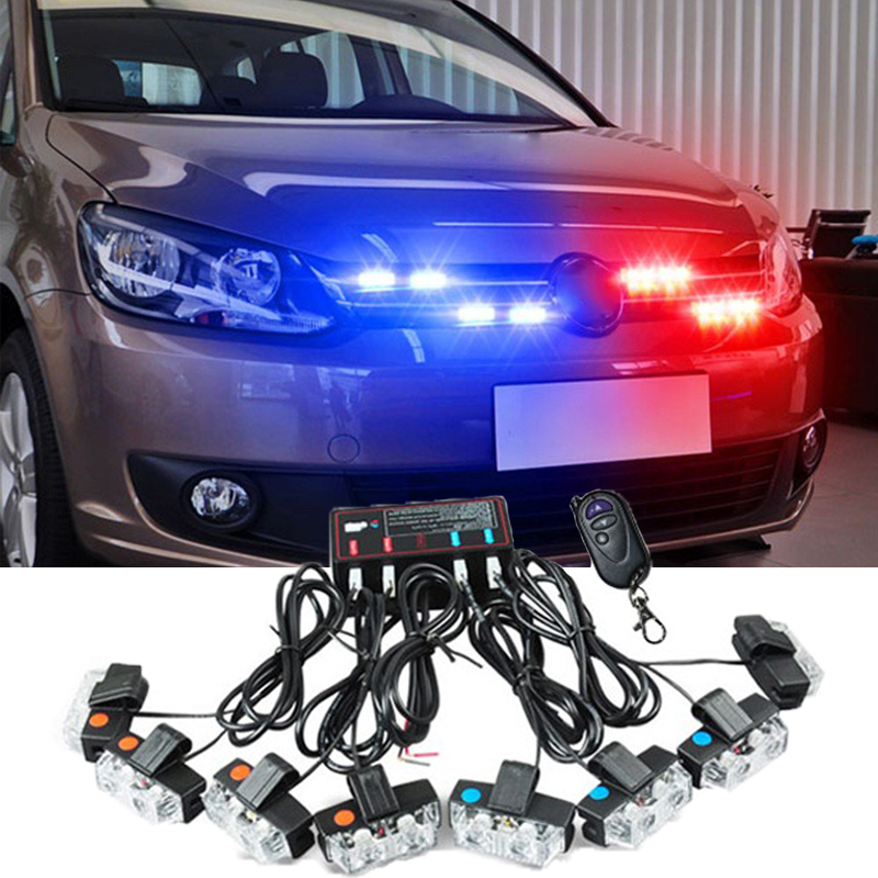 Wireless Control 16W car strobe light flash Remote Control Strobe led warning light Working light DRL Police Caution pilot Lamp luces led de policía