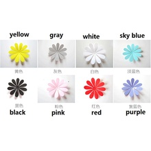 12pcs/lot Creative home flower with plastic wall stickers decorative stickers livingroom bedroom accessories 5zcx107