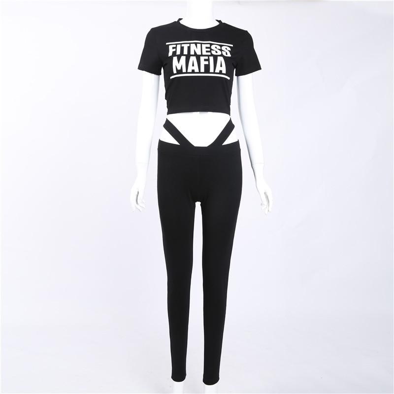 2017 new Women Tracksuits Sport Suits Women Gym Fitness Jogging Suit Clothing 2 Piece Set yoga wear (8)