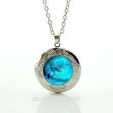 2017 Maxi Necklace Collier Collares And Necklace, Galaxy Pendant, Universe Hipster Charm Solar System Space Locket Pendant N673(China)