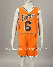 Kuroko no basuke Midorima Shintaro Orange Cosplay Costume Basketball Jersey Halloween Costumes(China)