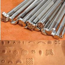 20PCS Multi Shape DIY Metal Stamping Foil Hot Press Machine Making Leather Carving Stamps Tools Leather Template Leather Tool(China)
