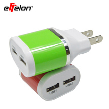 Effelon U.S Plug Dual USB Wall Charger Phone Chager Power Adapter For iPhone 5s for iPad for Galaxy S6 S4 Note 3 N9000