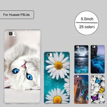 Soft TPU Case For Coque Huawei P8 LITE Case Silicon Back Cover For Funda Huawei Ascend P8 Lite Case 3D Relief phone bags Capa(China)