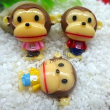 21*15mm Free Shipping!  Resin monkey, flatback resin cabochon for  hair bow decoden phone case diy  Embellishment resin maker