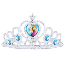 2017 Rushed Direct Selling Water Drop Tiaras Two Sisters Crown Children Plastic Ice And Snow Odd Light Children's Headdress
