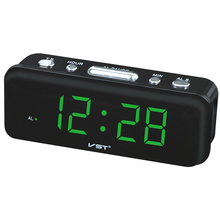 Big numbers Digital Alarm Clocks EU Plug AC power Desktop Table Clocks With 0.9 Large LED Display Home decor gift for Parents(China)