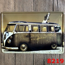 VW bus retro Metal sign Home decoration Pub Bar old Wall art signs  Mix order 20*30 CM metal craft