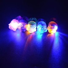 LED Flashing Rose Flower Rings Light Up Soft Jelly Finger Rings Children Gift Birthday Glow Party Christmas Navidad New Year(China)