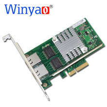 Winyao WYI350-T2V2 PCI-E X4 RJ45 Server Dual Port Gigabit Ethernet 10/100/1000Mbps Network Interface Card For i350-T2 NIC(China)