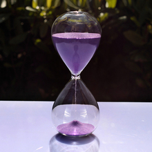 Creative Colorful 60 Minutes Crystal Transparent Glass Sand Timer Clock Hourglass Sandglass Home Decor Wedding Decoration Gifts