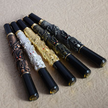 JINHAO 41 GOLDEN WITH DRAGON EMBOSSMENT ROLLER BALL PEN CRYSTAL BRASS COPPER GOLDEN SILVER 5 COLORS FOR CHOOSE