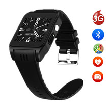 2017 New Arrival X86 Bluetooth Smart Watches Android 5.1 Rom 4G Support Sim Card 3G Wifi Camera 2MP SIM Card Skype IOS pk x01(China)